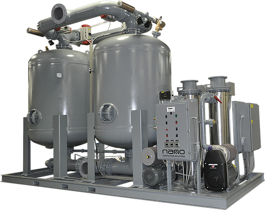 D5 blower purge twin tower dryers