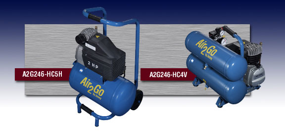 Jenny Portable Hand Carry Air Compressors Models A2G246-HC5H and A2G246-HC4V