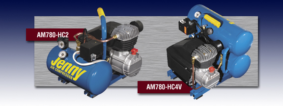 Jenny Portable Hand Carry Air Compressors Models AM780-HC2 and AM780-HC4V