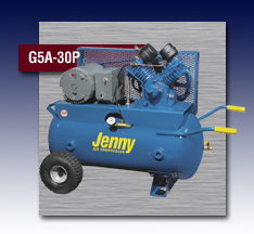 Jenny Single Stage Wheeled Portable Electric Motor Air Compressor - Model G5A-30P