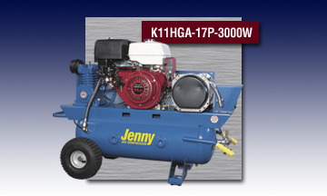 Jenny Special Portable Air Compressor - Model K11HGA-17P-3000W