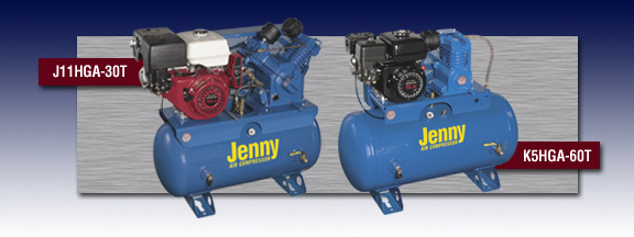 Jenny Service Vehicle Air Compressor - Models J11HGA-30T and K5HGA-60T